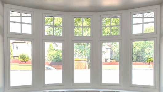 Bow and Bay flush casement windows
