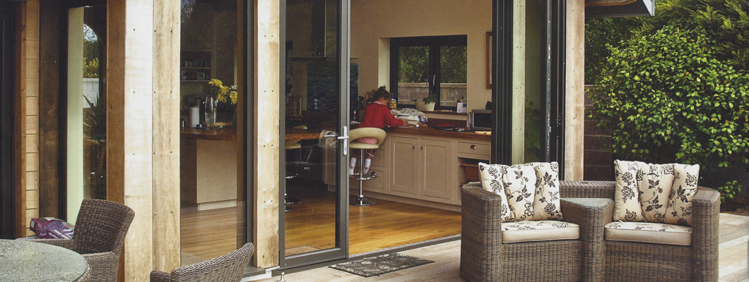 Bi fold doors link your garden and home
